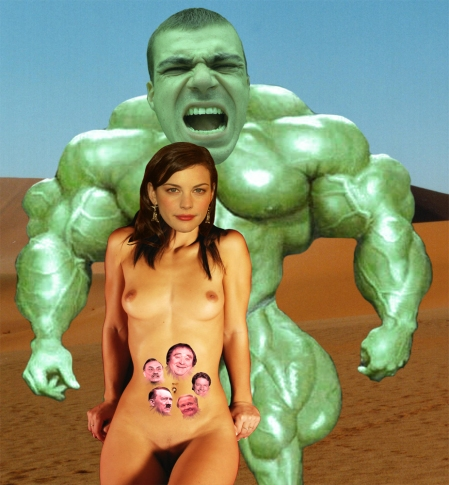 Liv Tyler prepares to be mounted by her husband, The Incredible Hulk