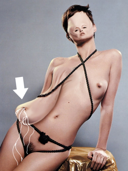 Artist\'s impression of what Kate Moss\'s right tit probably looks like